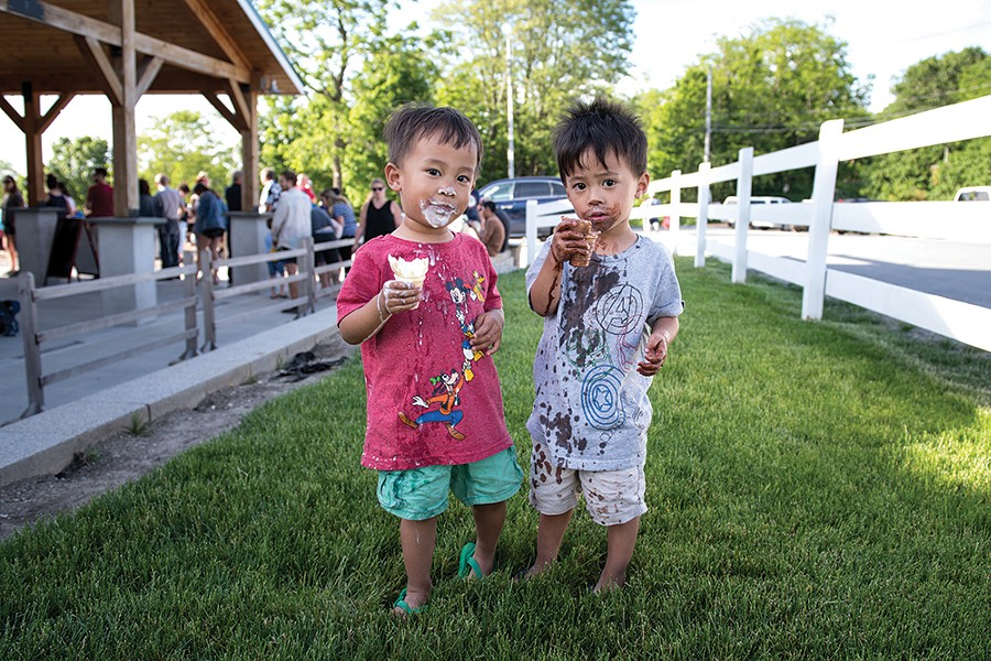 """""""Xander and Hunter enjoying ice cream at Bellvale Farm Creamery"""", an outtake from this month's Community Page Warwick section. - PHOTO: CHRISTINE ASHBURN"""