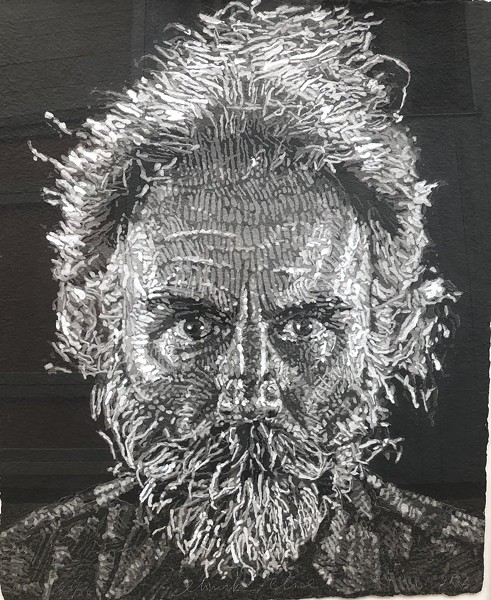 Chuck Close. Lucas Paper/Pulp, 2006. Cold stenciled handmade paper print in colors - COURTESY OF ECKERT FINE ART