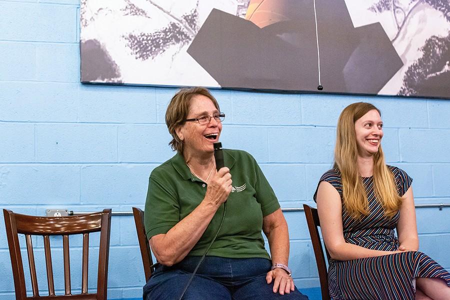 Panelist Frances F. Dunwell, coordinator of the New York State Department of Environmental Conservation's Hudson River Estuary program - PHOTO: ANNA SIROTA
