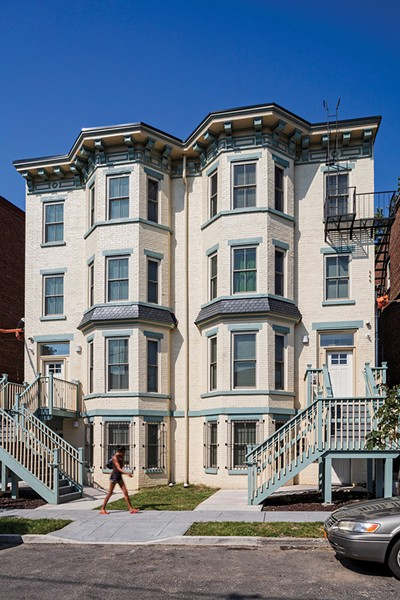 """19 and 21 South Miller Street are part of Newburgh's East End Apartments, a more than 40-unit affordable rental housing project completed in partnership with RUPCO and managed by Safe Harbors. The project received one of the Preservation League of New York State's eight """"Excellence in Historic Preservation"""" awards in 2019."""