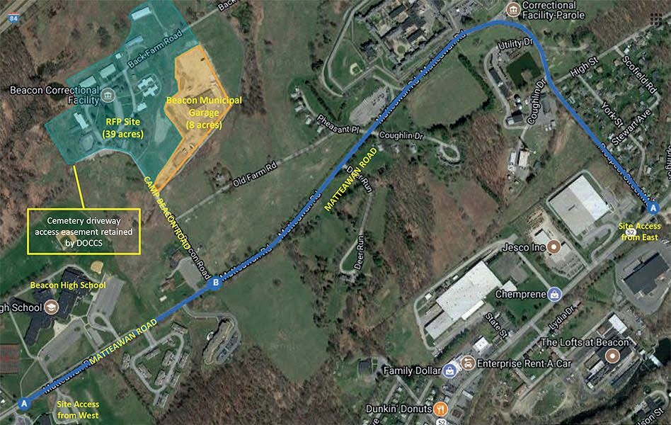 Empire State Development's site map for - the Beacon Correctional Facility property.