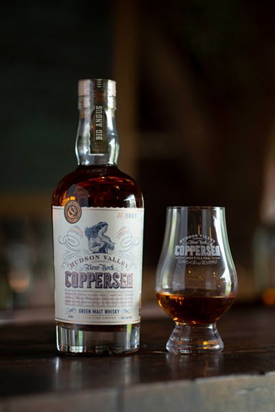 Coppersea's distinctive Green Malt Whisky.