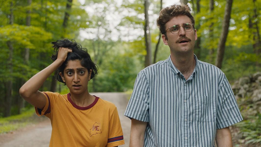 Jack (John Reynolds) and Su (Sunita Mani) in Save Yourselves! - COURTESY OF SUNDANCE FILM FESTIVAL
