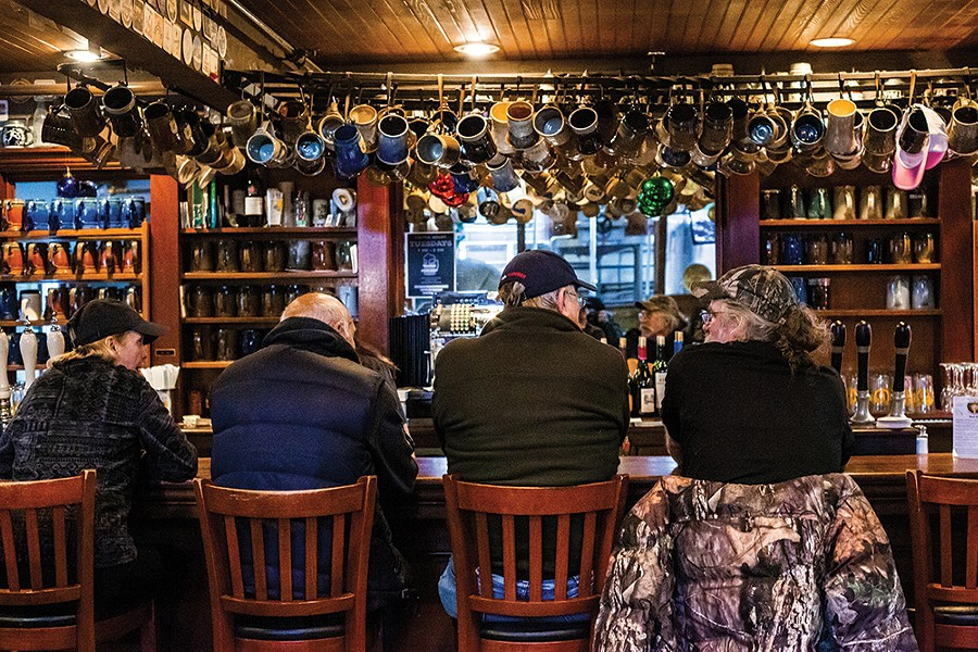 The bar at Barrington Brewery & Restaurant has - been a drinking and dining mainstay in Great - Barrington since 1995. - PHOTO: ANNA SIROTA