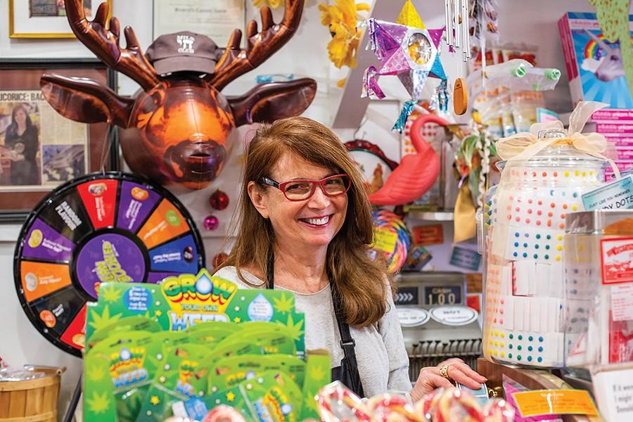 Robin Helfand of Robin's Candy in Great Barrington, Massachusetts. - PHOTO: ANNA SIROTA