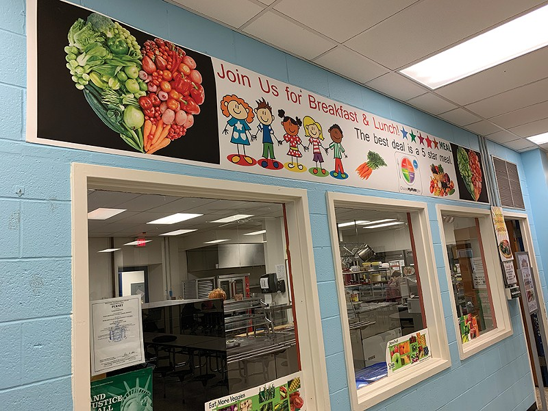 The cafeteria at Margaretville Central School. - PHOTO: LISSA HARRIS