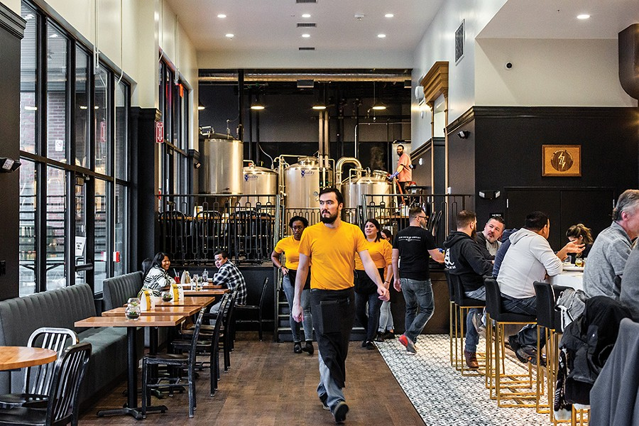 Zeus Brewing Company opened in December on the ground floor of Queen City Lofts, the latest brewpub to join the city's ever-expanding craft beer scene. - PHOTO: ANNA SIROTA