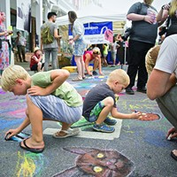 Chronogram Block Party 2015 Creative types of all ages tried their hand at sidewalk art Saundi Wilson