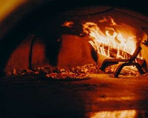 A peak inside the Ollie's oven in High Falls.