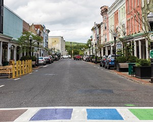 Wall Street in Uptown Kingston, home to many of the cultural attractions that are drawing people to the city.