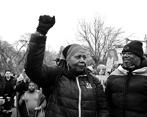 Vanessa Green at the 2018 Black Women's March: Continuing the Legacy of Harriet Tubman at the Tappan Zee/Gov. Mario M. Cuomo Bridge in Tarrytown.