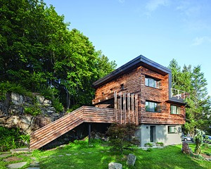 North Street House, a Passive House retrofit in Cold Spring completed by River Architects.