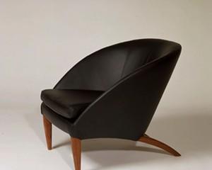 Barrow Chair. Bubinga and leather.