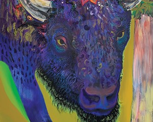 Bison Comes Like a Storm (detail) ,Sahana Ramakrishnan