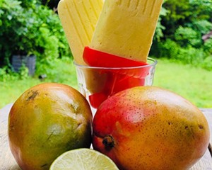 These cannabis-infused mango popsicles are easy to make at home.