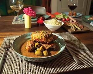 The Corner's signature dish, Moroccan chicken