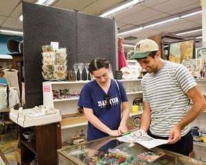 Sarah Minkoff and Sean Dunn at Saugerties Antiques
