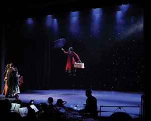 """A performance of """"Mary Poppins"""" at the Woodstock Playhouse."""