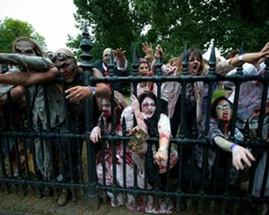 Brain eating zombies at Tuxedo Park's Forest of Fear.