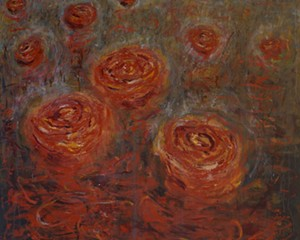 Your Wounds Become Roses, oil on canvas, 60 x 48 inches