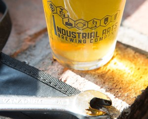 Industrial Arts' signature New England IPA—Wrench.