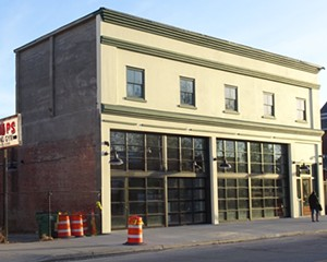 The renovated Poughkeepsie Trolley Barn at 489 Main Street.