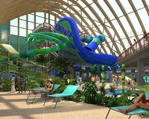 A rendering of The Kartrite water park.