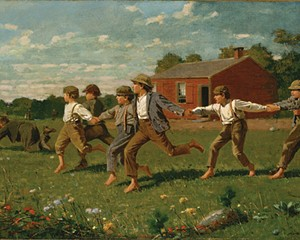 Snap the Whip, Winslow Homer, 1872, oil on canvas, Metropolitan Museum of Art. Works by Homer are on display this month are on display this month in Hurley.