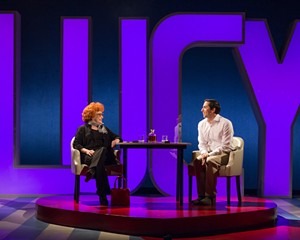 "Sandra Dickinson and Matthew Bunn in the London production of ""I Loved Lucy."""