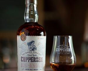 Coppersea's distinctive Green Malt Whisky.
