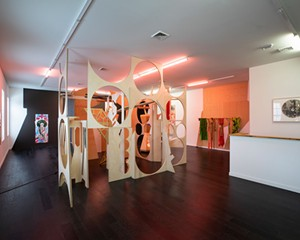 """""""UNEARTH,"""" Laleh Khorramian's 2019 solo show at September Gallery in Hudson."""