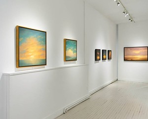 """Installation view of """"A Quiet Respite,"""" On view at the Carrie Haddad Gallery through January 5, 2020."""