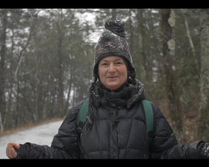 A still from Hudson Valley herbalist Dina Falconi's new video mini series Holiday Kitchen Forage.
