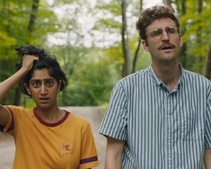 Jack (John Reynolds) and Su (Sunita Mani) in Save Yourselves!