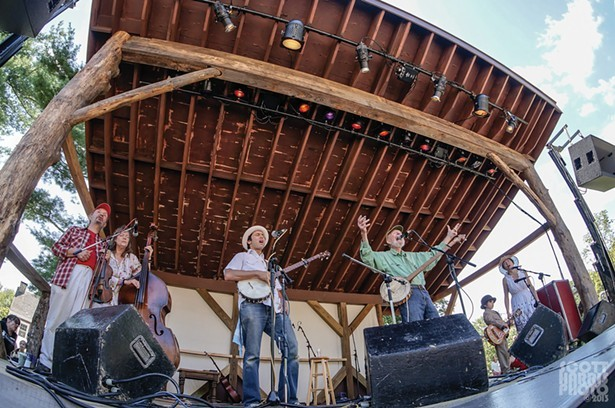 Pete Seeger and friends perform at the first annual Summer Hoot, 2013.