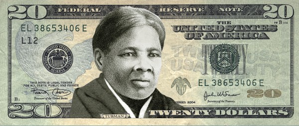 Mock-up of how the new $20 might look with Harriet Tubman on it. - COURTESY OF WOMEN ON 20S.