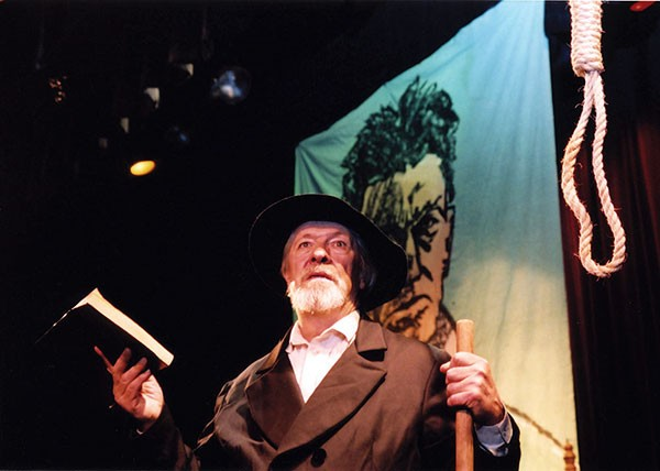 "Norman Marshall performing in ""John Brown, Trumpet of Freedom"" at the Woodstock Fringe Festival"