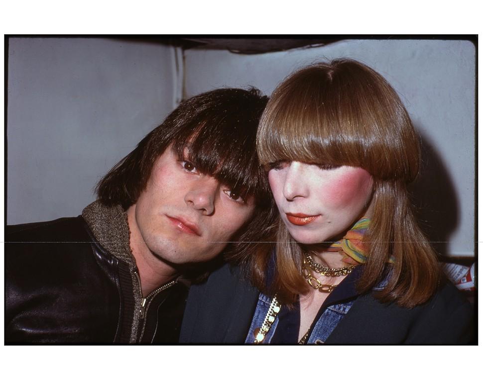 Dee Dee Ramone with girlfriend Connie Gripp, 1975
