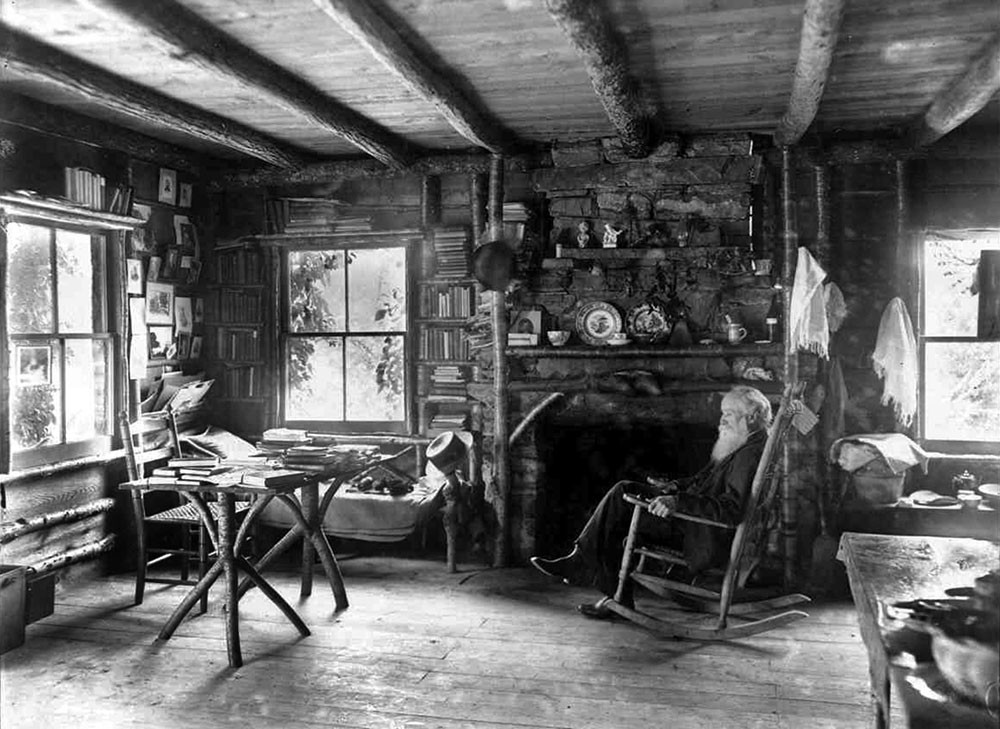 John Burroughs At Slabsides, His Rustic Cabin In West Park. A New  Collection Of Burroughu0027s Writing, Manifold Nature, Is Being Published On  October 1.
