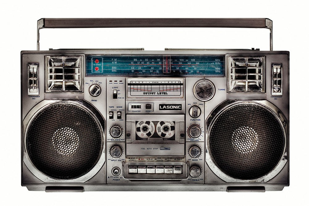 """A photograph from Lyle Owerko's """"The Boombox Project,"""" which opens at Hudson Opera House on November 19"""