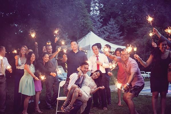 A wedding reception photo by Dear Alex + Jane.