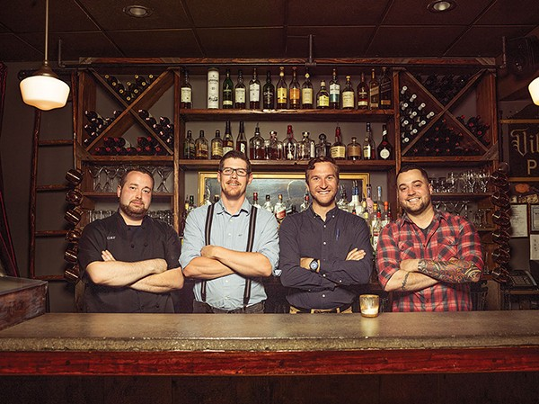 Left to right: Chef Zac Stough, bartender Mike Gilfeather, Mariusz Witka, bartender Dave Rose - MATT LONG