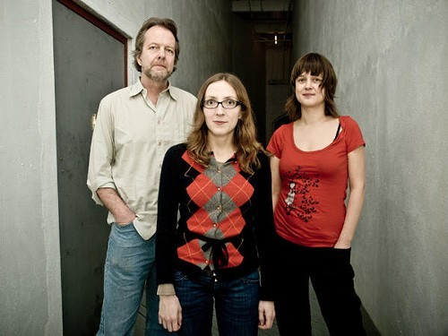 The Tom Rainey Trio, L to R: Tom Rainey, Mary Halvorson, Ingrid Laubrock