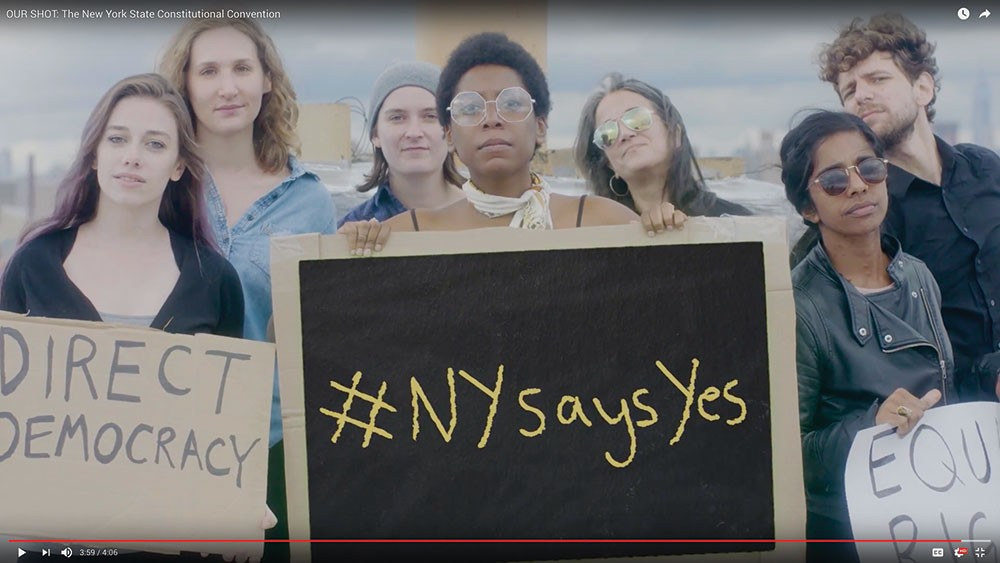 "A still from the pro-Constitutional Convention video ""Our Shot,"" produced by Forward March NY, New York members of the Women's March on Washington."
