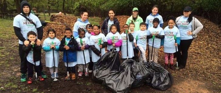 Some young I Love My Park Day volunteers. - COURTESY OF PARKS & TRAILS NY