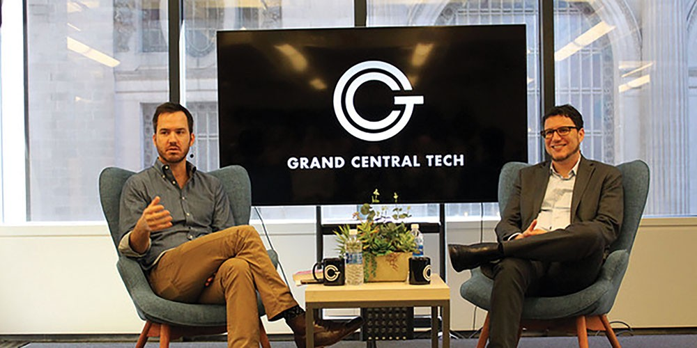 Grand Central Tech Co-founder and Managing Director  Matt Harrigan hosting the GCT Author Series in Manhattan