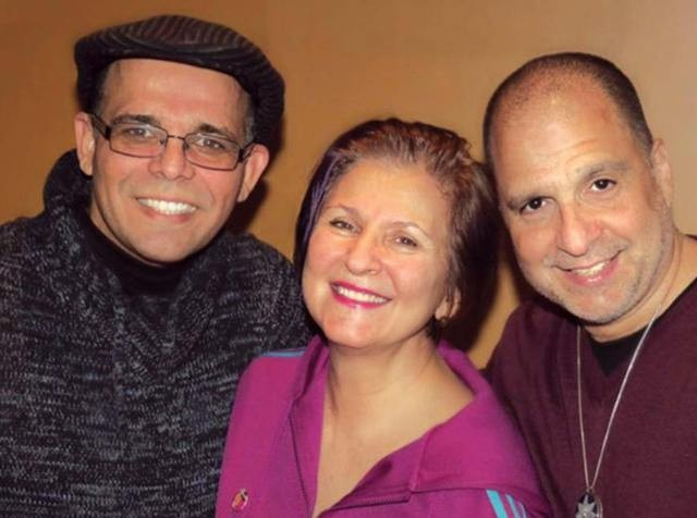 The Requinte Trio, L to R: Nanny Assis, Janis Siegel, John DiMartino.