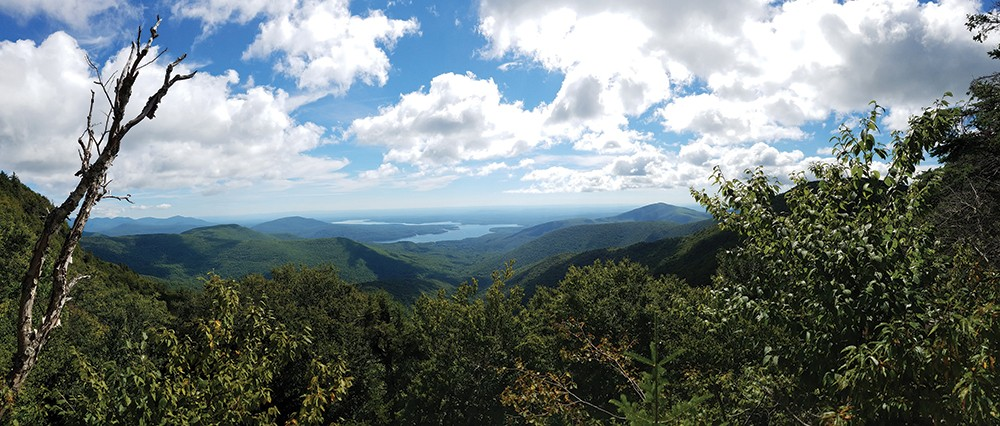 Looking at the Ashokan Reservoir from the top of Friday Mountain - STASH RUSIN