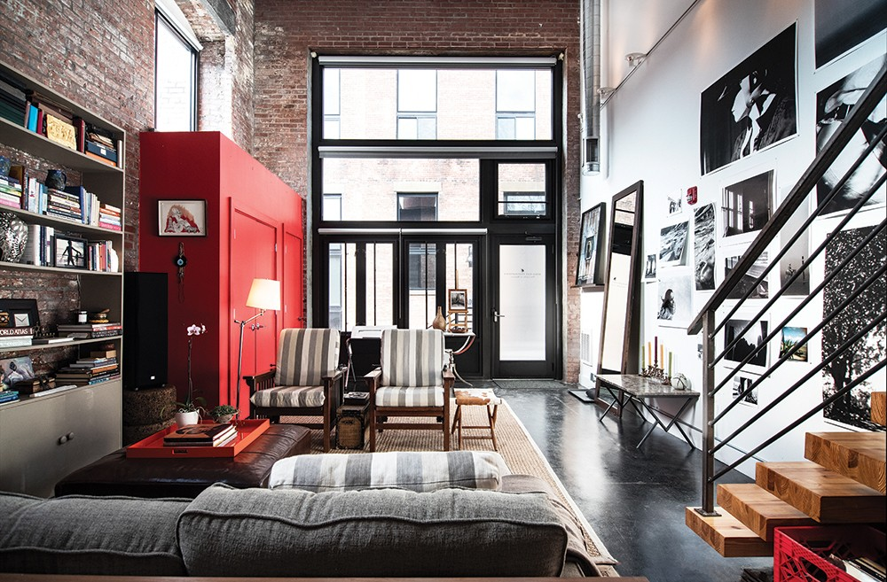 Click To Enlarge The Front End Of Loft Is Dominated By A Bright Red Closet Rice Added When