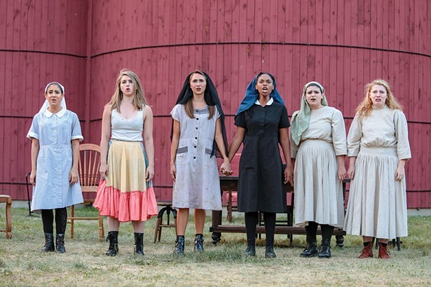 """The Powerhouse Theater Training Program's2018 production of """"Measure for Measure"""" byWilliam Shakespeare, adapted and directed by Andrew Willis-Woodward."""